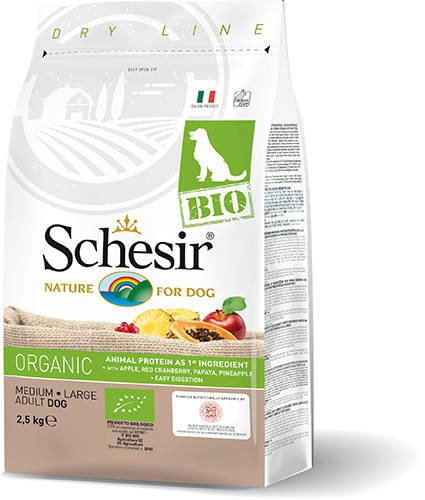 Schesir Dog Dry Bio Main Chicken - 2,5 kg.