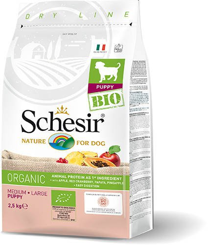 Schesir Dog Dry Bio Medium/Large Puppy - 2,5 kg.