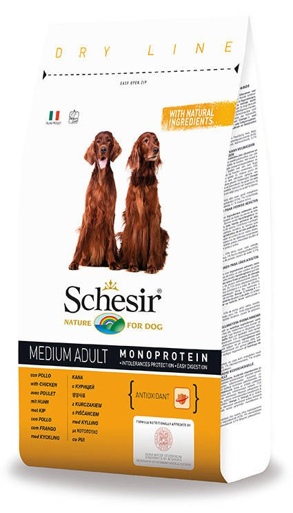 Schesir Dog Dry Medium Main Chicken - 3 kg.