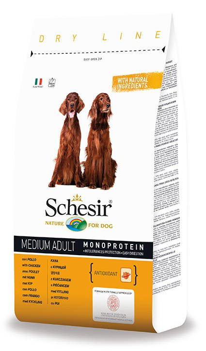 Schesir Dog Dry Medium Main Chicken - 12 kg.