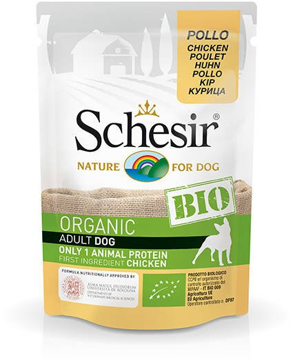 Schesir Dog Bio Chicken - 16x85 gr.
