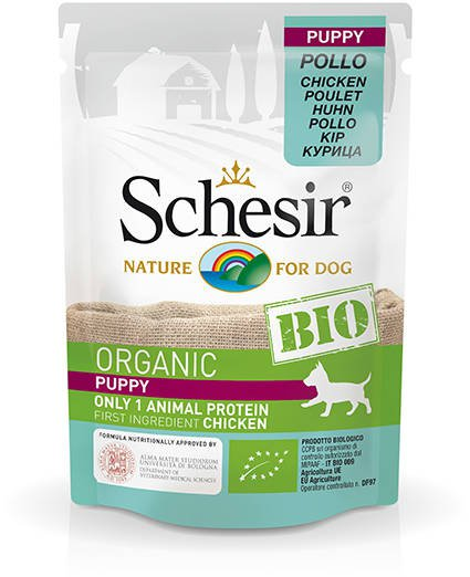 Schesir Dog Bio Puppy Chicken - 16x85 gr.