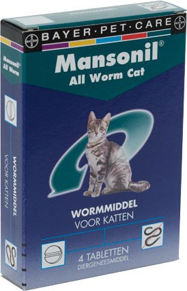 Mansonil All Worm Cat - 4 tablet