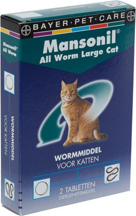 Mansonil All Worm Large Cat - 2 tablet