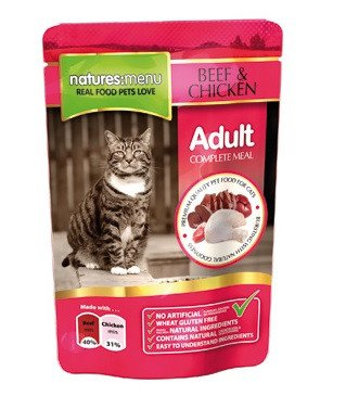 Natures Menu Cat Pouch Beef & Chicken - 100 gr. (12 verp.)
