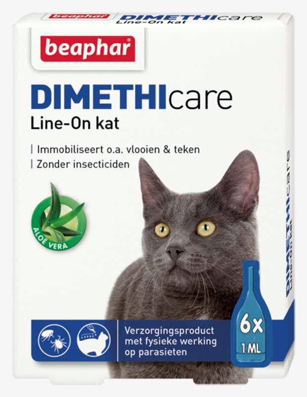 Beaphar Dimethicare Line-on Kat - 6 pip.