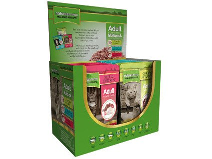 Natures Menu Cat Pouch Multi-Pack - 12x100 gr.