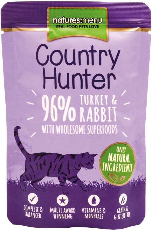 Natures Menu Cat Country Hunter Pouch Turkey & Rabbit - 85 gr. (6 verp.)
