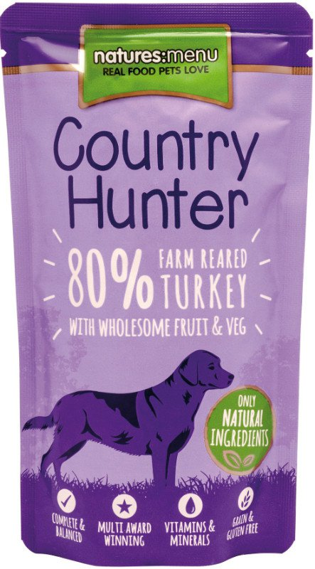 Natures Menu Dog Country Hunter Pouch Turkey - 150 gr. (6 verp.)