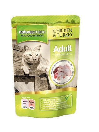 Natures Menu Cat Pouch Chicken & Turkey - 100 gr. (12 verp.)