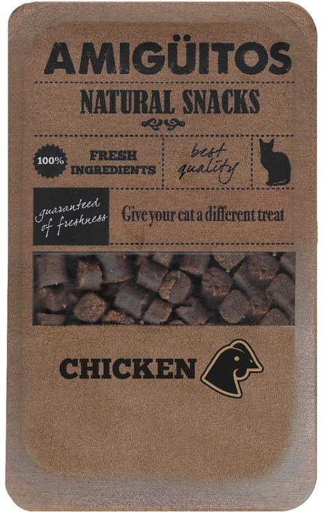 Amigüitos Catsnack Chicken - 9x100 gr.