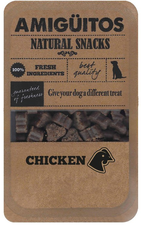 Amigüitos Dogsnack Chicken - 9x100 gr.