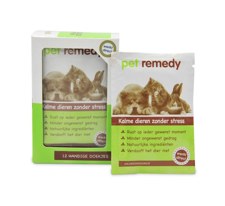 Exil Pet Remedy Kalmerende doekjes - 12 st.