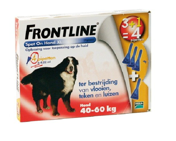 Frontline spot on dog XL 4 Pipet