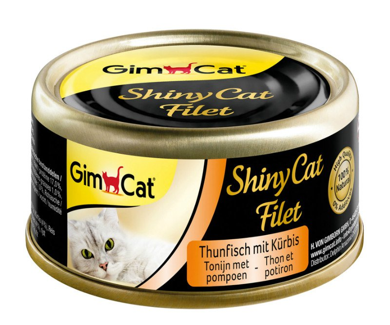 ShinyCat Blik filet Tonijn+Pompoen - 70 gr. (24 verp.)
