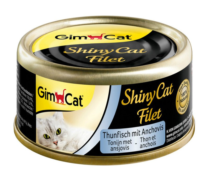 ShinyCat Blik filet Tonijn+Ansjovis - 70 gr. (24 verp.)