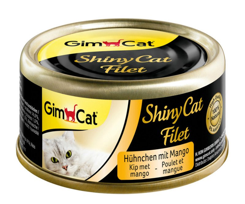ShinyCat Blik filet Kip+Mango - 70 gr. (24 verp.)