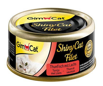 ShinyCat Blik filet Tonijn+Zalm - 70 gr. (24 verp.)