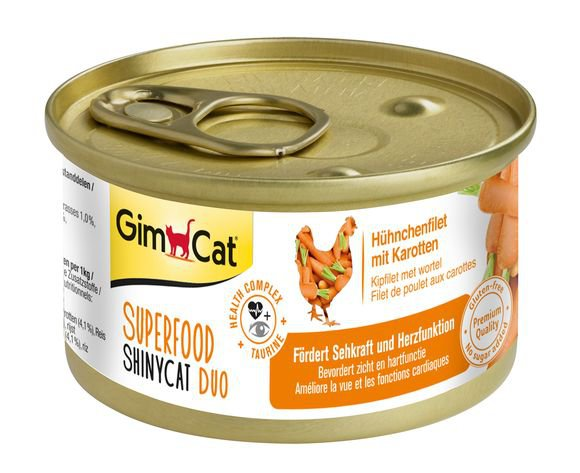 ShinyCat Superfood Kipfilet met Wortel - 24x70 gr.