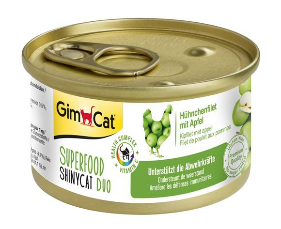 ShinyCat Superfood Kipfilet met Appel - 24x70 gr.