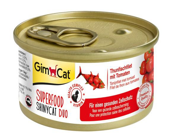 ShinyCat Superfood Tonijnfilet met Tomaat - 24x70 gr.