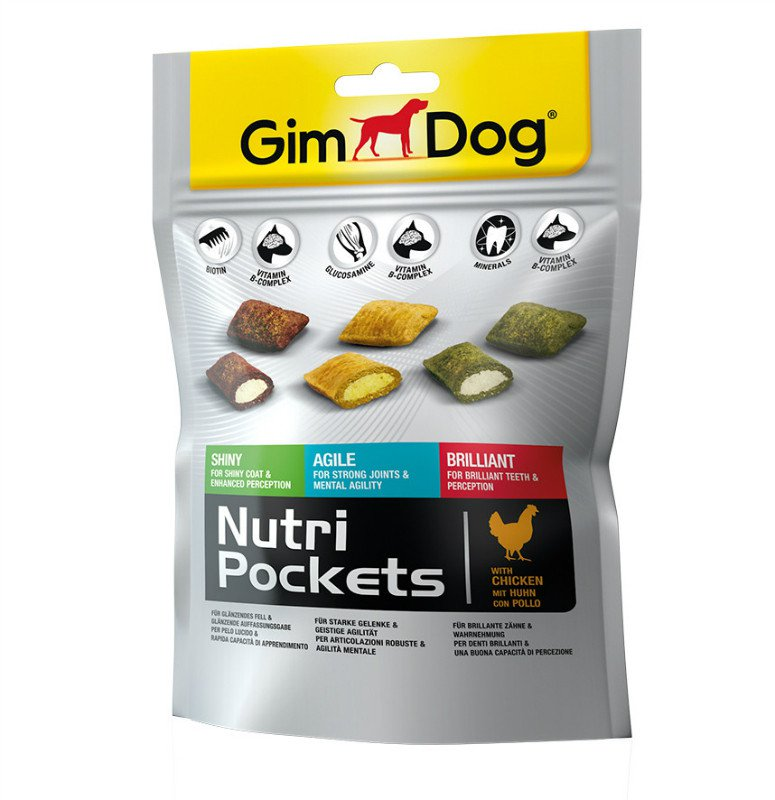 GimDog Nutri Pockets mix - 150 gr.