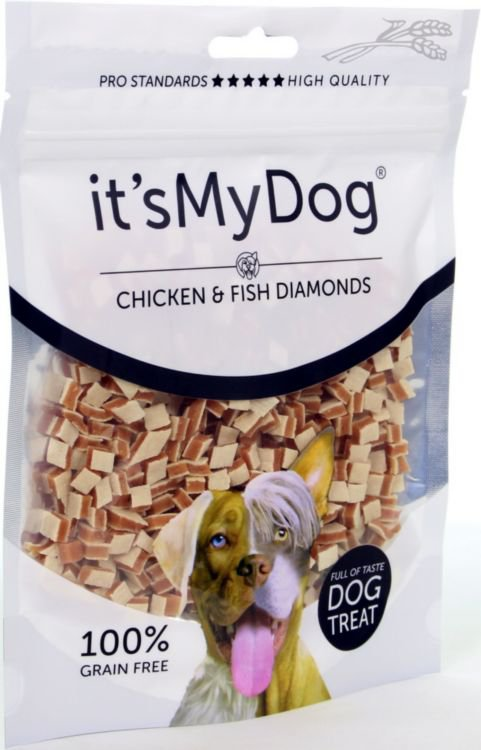 it's My Dog Chicken & Fish Diamonds - 85 gr.