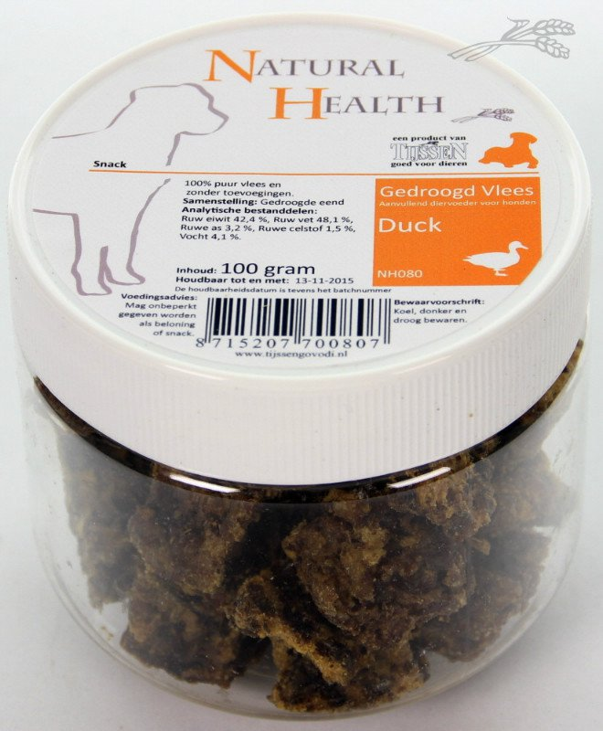 Natural Health Duck Snack - 150 gr.