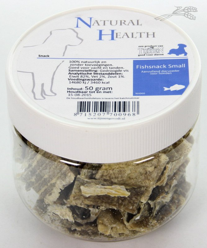 Natural Health Snack Fish Small  - 50 gr.