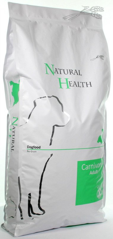Natural Health Dog Carnivore - 15 kg.