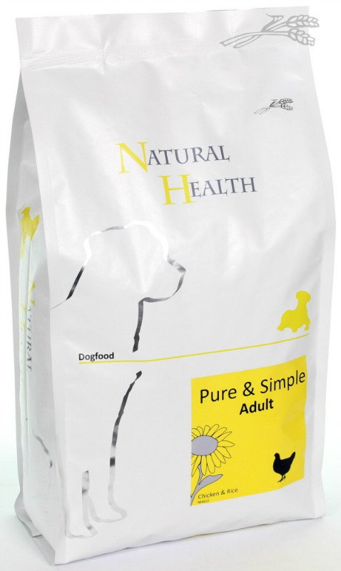 Natural Health Dog Chicken & Rice - 2,5 kg.