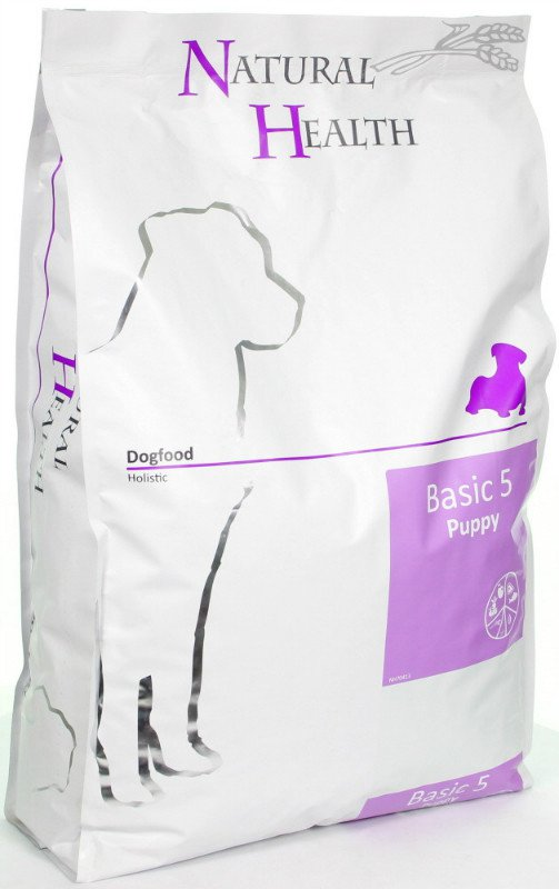 Natural Health Dog Basic Five Puppy - 7,5 kg.