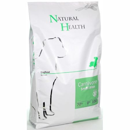 Natural Health Dog Carnivore Small Bite  - 15 kg.