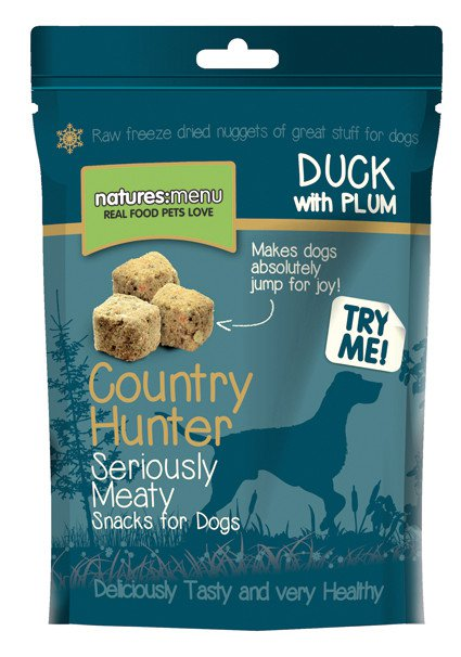 Natures Menu Dog Country Hunter treats Duck - 50 gr. (10 verp.)