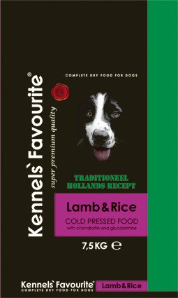 Kennels Favourite 'Cold-Pressed' Lamb - 7,5 kg.
