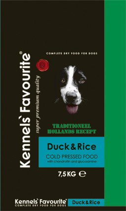 Kennels Favourite 'Cold-Pressed' Duck - 7,5 kg.