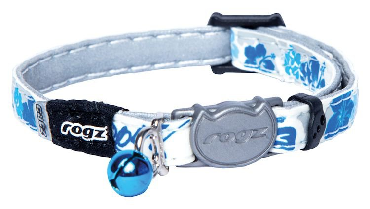 Rogz GlowCat Blue Floral - 8mm | 16,5x23 cm