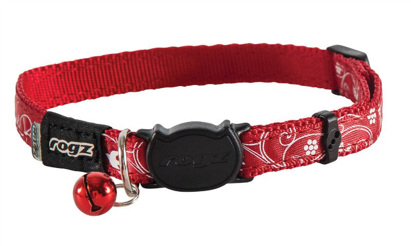 Rogz Silkycat Red Filigree - 11mm - 20-31 cm.