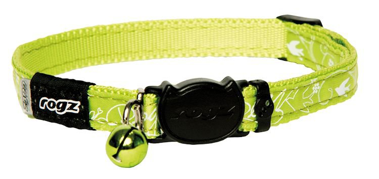 Rogz Silkycat Lime Filigree - 11mm - 20-31 cm.