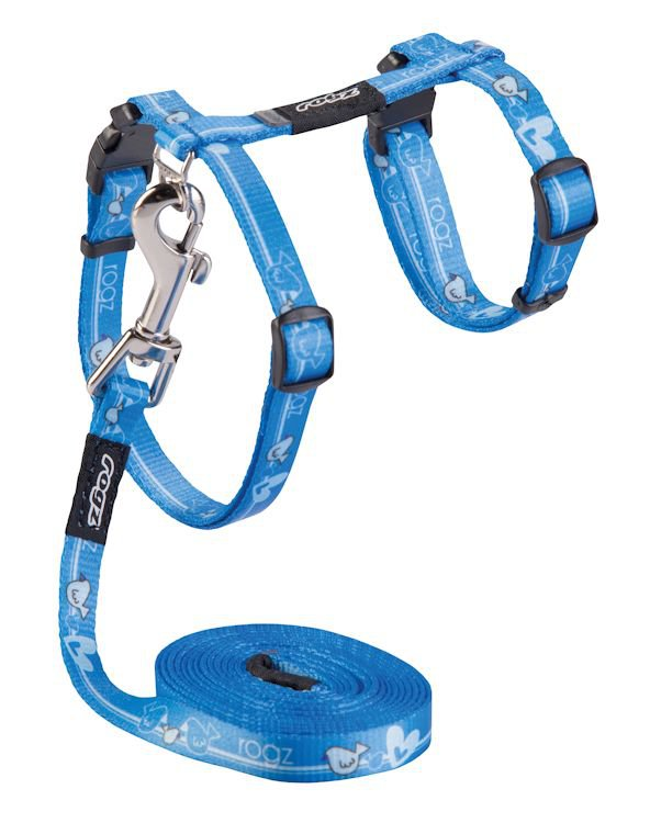 Rogz Kiddycat Tuig+Lijn Royal Birds - 11mm|24-30 cm|1,8m