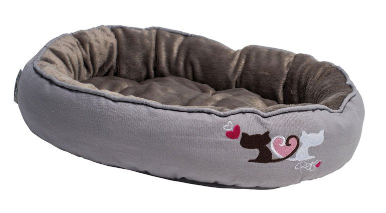 Rogz Snug Podz Medium Heart Trails Catz - 56x39x13 cm.