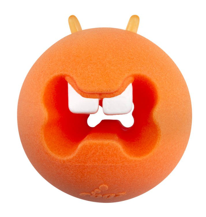 Rogz Fred Treat Ball Orange - Medium