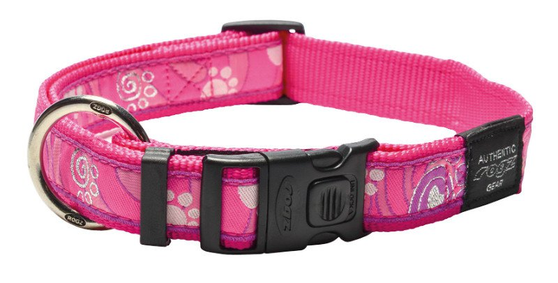 Rogz Armed Response Halsband Pink Paw XL - 25mm