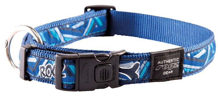 Rogz Armed Response Halsband Navy Zen XL - 25mm