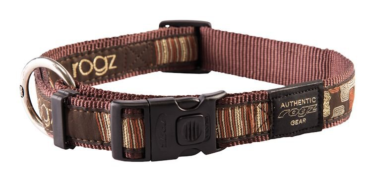 Rogz Armed Response Halsband Mocha Bone XL - 25mm