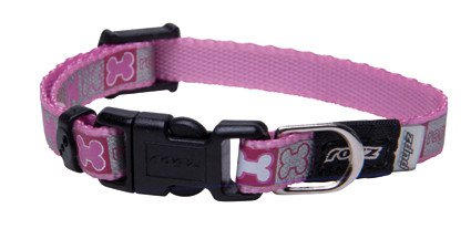 Rogz Reflecto Halsband X-Small Pink - 14-21cm x 8mm.