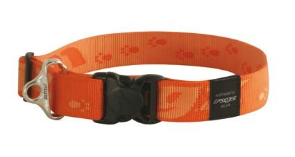 Rogz Big Foot Halsband Orange XXL - 40mm