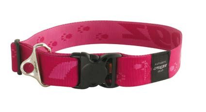 Rogz Big Foot Halsband Pink XXL - 40mm