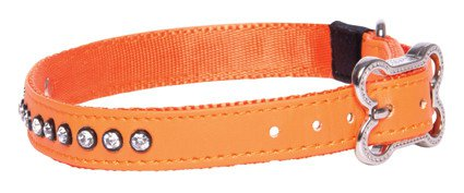 Rogz Lapz Luna Side Halsband Orange M - 16mm