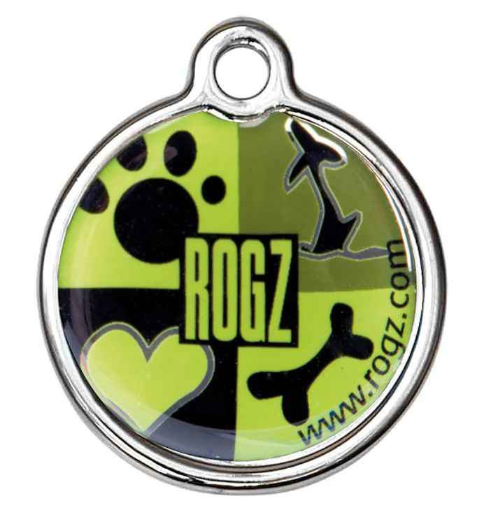 RogZ ID Tag Small Metal Lime Juice